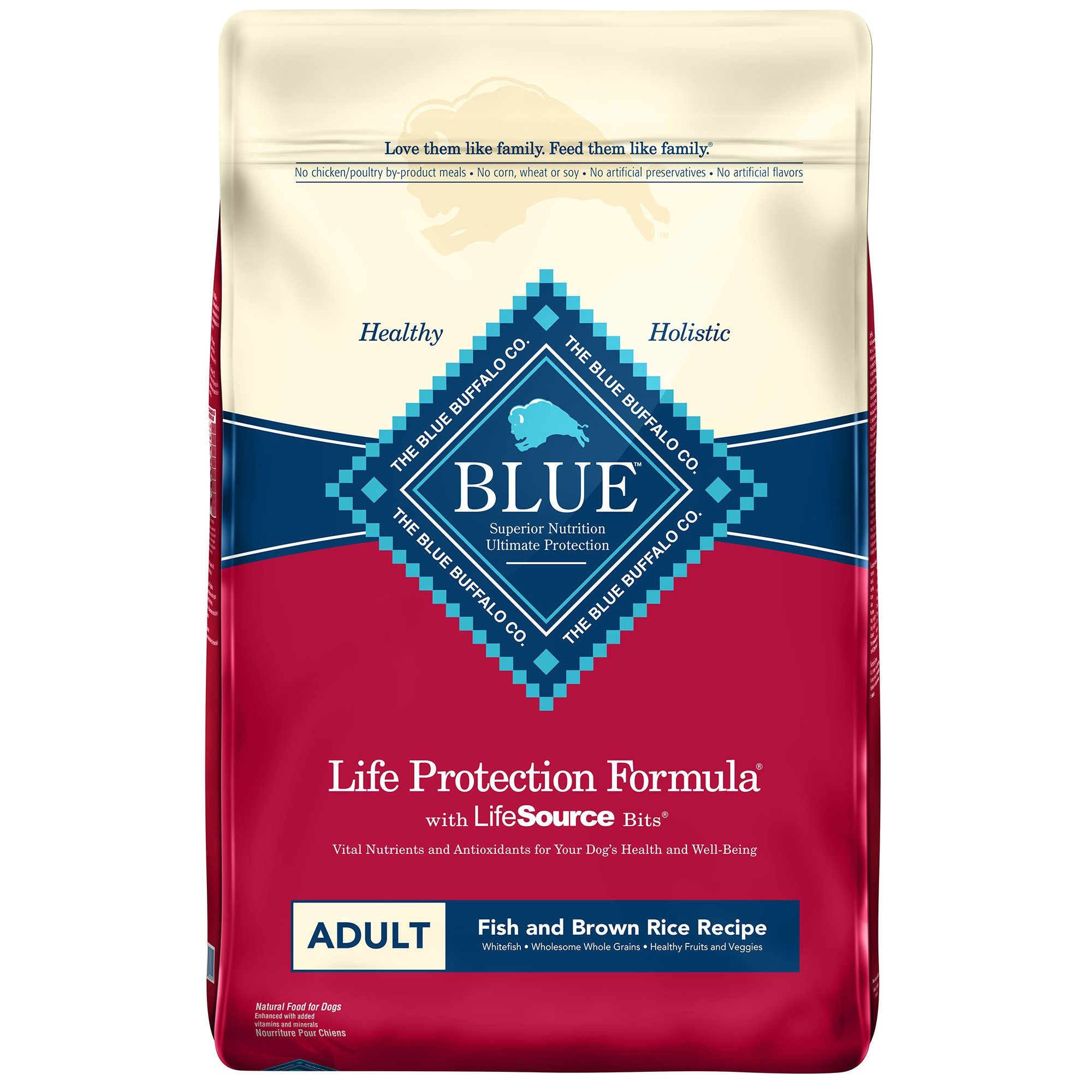 blue buffalo dog life protection fish and brown rice aloha